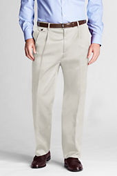 Men's Pleat Front Traditional Fit No Iron Twill Trousers