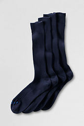 Men's Cotton Rib Mid-calf Dress Socks (2-pack)