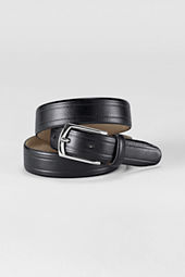 Men's Glazed Leather Dress Belt