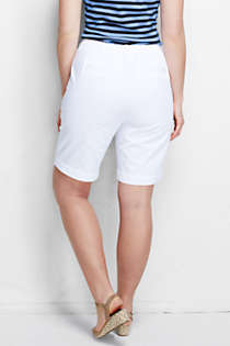 "Women's Plus Size 7 Day 10"" Bermuda Shorts, Back"