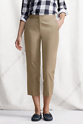 Women's Comfort-waist Cropped Chinos