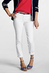 Women's Fit 1 White Denim Ankle Pants