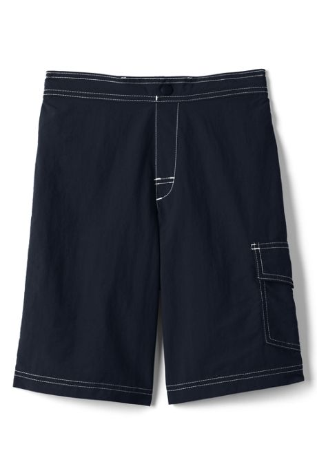 School Uniform Boys Solid Swim Board Shorts