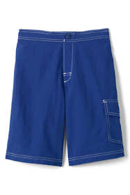 Boys Solid Swim Board Shorts