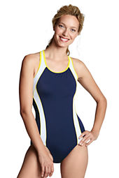 Women's AquaFitness Butterfly Scoop Control Splice One Piece Swimsuit