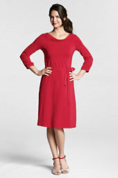Women's 3/4-sleeve Cotton Modal Drapeneck Dress