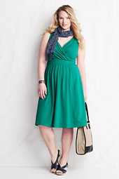 Women's Plus Cotton/Modal Crossover Jersey Dress