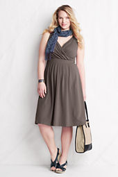 Women's Sleeveless Solid Cotton Modal Fit and Flare Dress