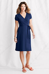 Women's Short Sleeve Cotton Modal Wrap Dress