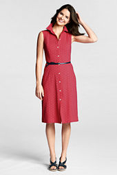 Women's Sleeveless Eyelet Shirtdress