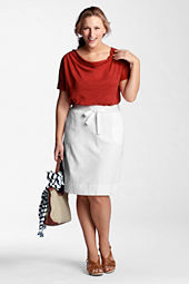 Women's Plus Size French Terry Skirt