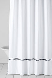 Tailored Hotel Embroidered Rope Shower Curtain