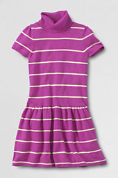 Girls' Short Sleeve Turtleneck Sweater Dress
