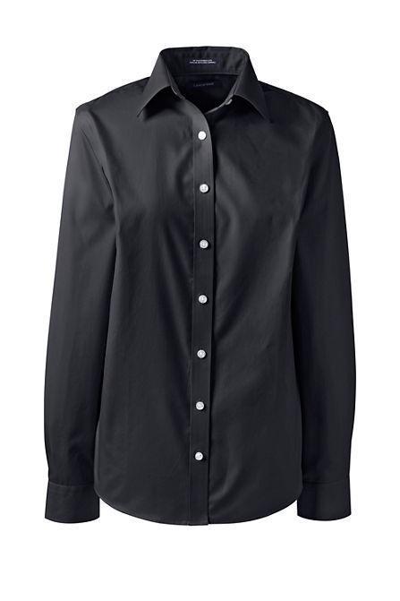 07ddd5ab13b Women s Long Sleeve Straight Collar No Iron Broadcloth Shirt