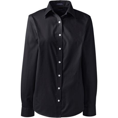 Women's Long Sleeve Straight Collar No Iron Broadcloth Shirt