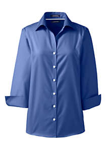 School Uniform Women's Tall 3/4 Sleeve No Iron Broadcloth Shirt, Front