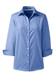 School Uniform Women's Plus Size 3/4 Sleeve No Iron Broadcloth Shirt