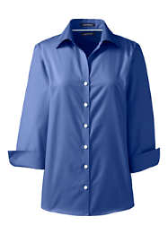 Women's Plus Size 3/4 Sleeve No Iron Broadcloth Shirt