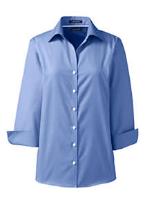 Women's 3/4 Sleeve No Iron Broadcloth Shirt, Front