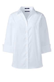 Women's 3/4 Sleeve No Iron Broadcloth Shirt