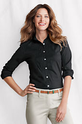 Women's Pleated Front Stretch Blouse