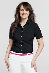 Women's Short Sleeve Stretch Blouse