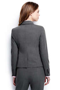 Women's Plus Size Two Button Washable Wool Blazer, Back