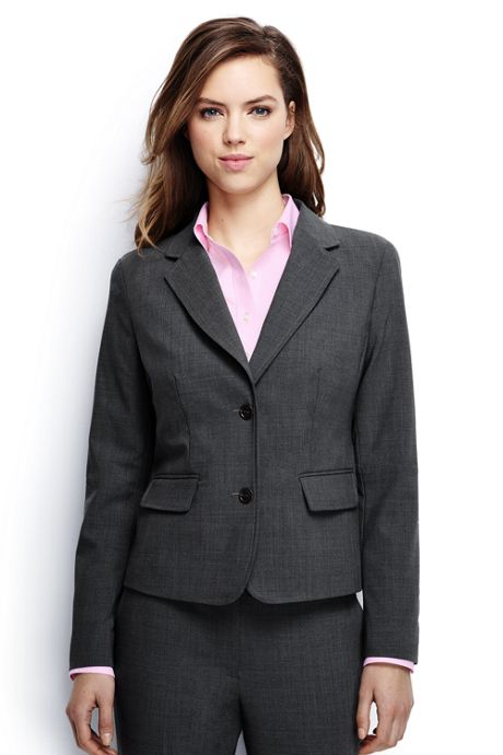 Women's Two Button Washable Wool Blazer