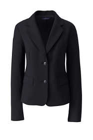 Women's Petite Two Button Washable Wool Blazer