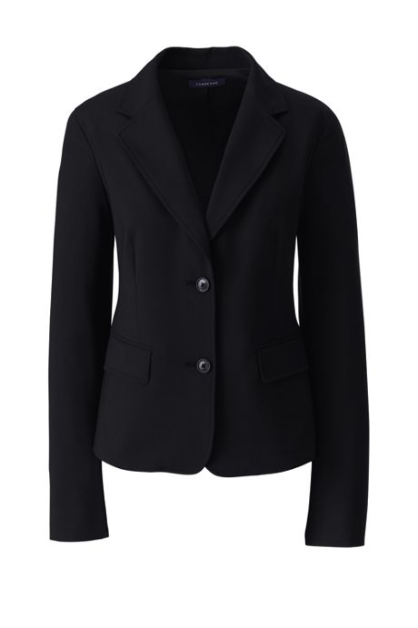 Women's Plus Size Two Button Washable Wool Blazer