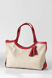 Women's Small Kinzie Linen Tote Bag