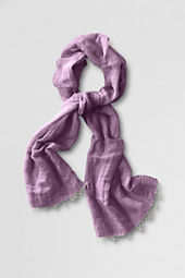 Women's Cotton Linen Baby Fringe Scarf