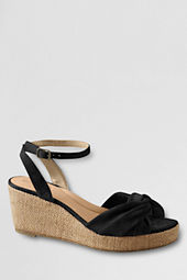 Women's Brinton Burlap Mid Wedge Twisted Sandals