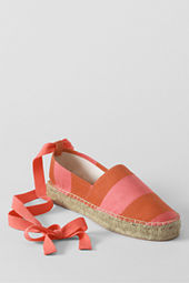 Women's Whitney Low Platform Ankle Tie Espadrille Shoes