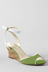 Women's Hadley Mid Wedge Canvas Quarter Strap Sandals