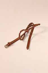 Women's Tubular Skinny Braid Belt