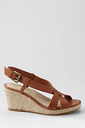 Women's Trista Mid Wedge Leather Slingback Espadrilles