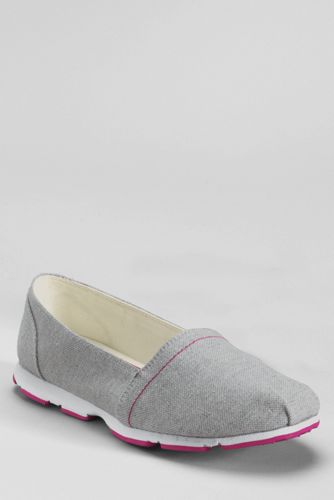 Women's Gatas Canvas Slip-on Shoes - Silver Metallic Linen, 9