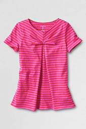 Girls' Short Sleeve Knit Tie Front T-shirt