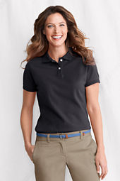 Women's Short Sleeve Ottoman Collar Mesh Polo Shirt