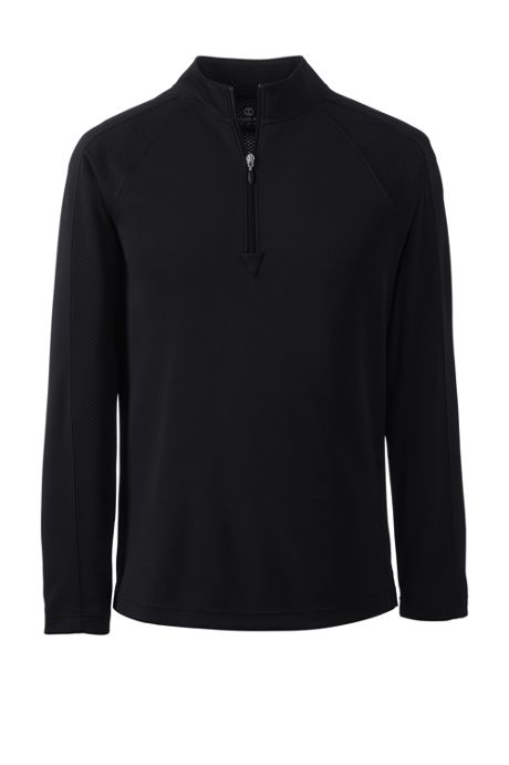School Uniform Men's Long Sleeve Multi Textured Half Zip