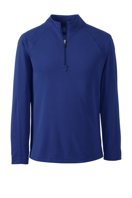 Men's Big Long Sleeve Multi Textured Half Zip