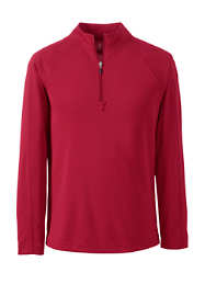 Men's Long Sleeve Multi Textured Half Zip