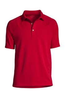 Men's Custom Embroidered Logo Short Sleeve Textured Active Polo Shirt