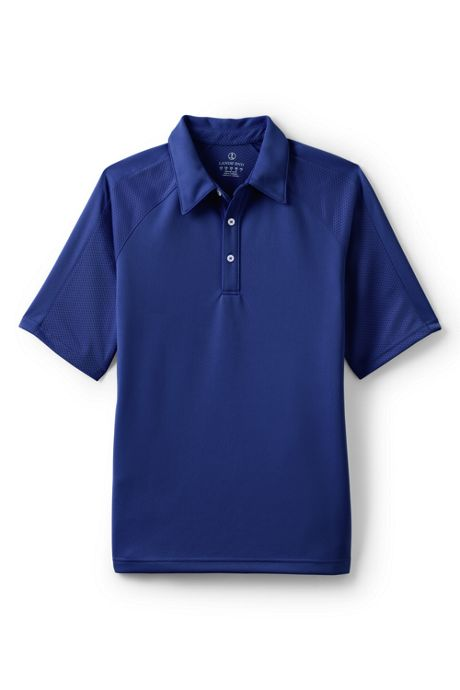 Men's Short Sleeve Multi Textured Active Polo Shirt