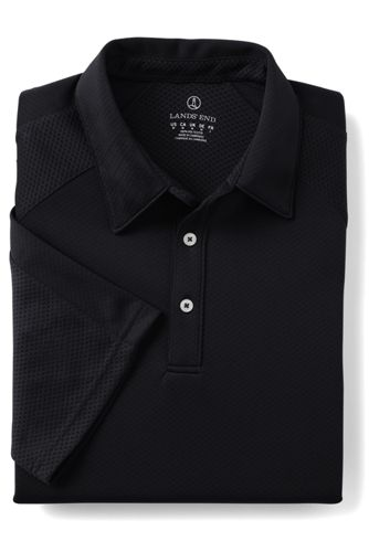 Men's Big Short Sleeve Multi Textured Polo