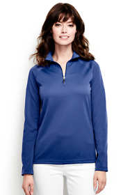 School Uniform Women's Multi Textured Quarter Zip Pullover