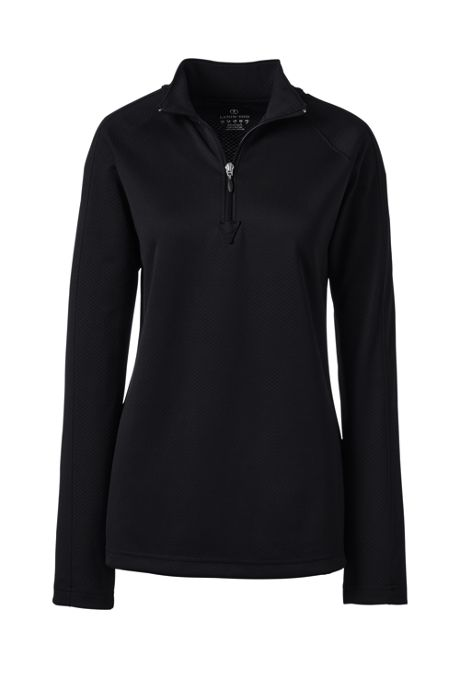 Women's Long Sleeve Multi Textured Half Zip Pullover
