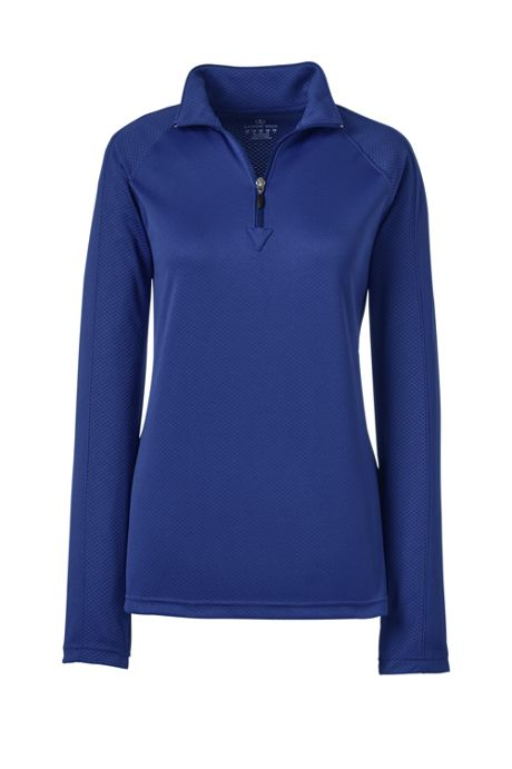 Women's Long Sleeve Multi Textured Half Zip