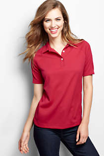 Women's Short Sleeve Multi Textured Polo , Front